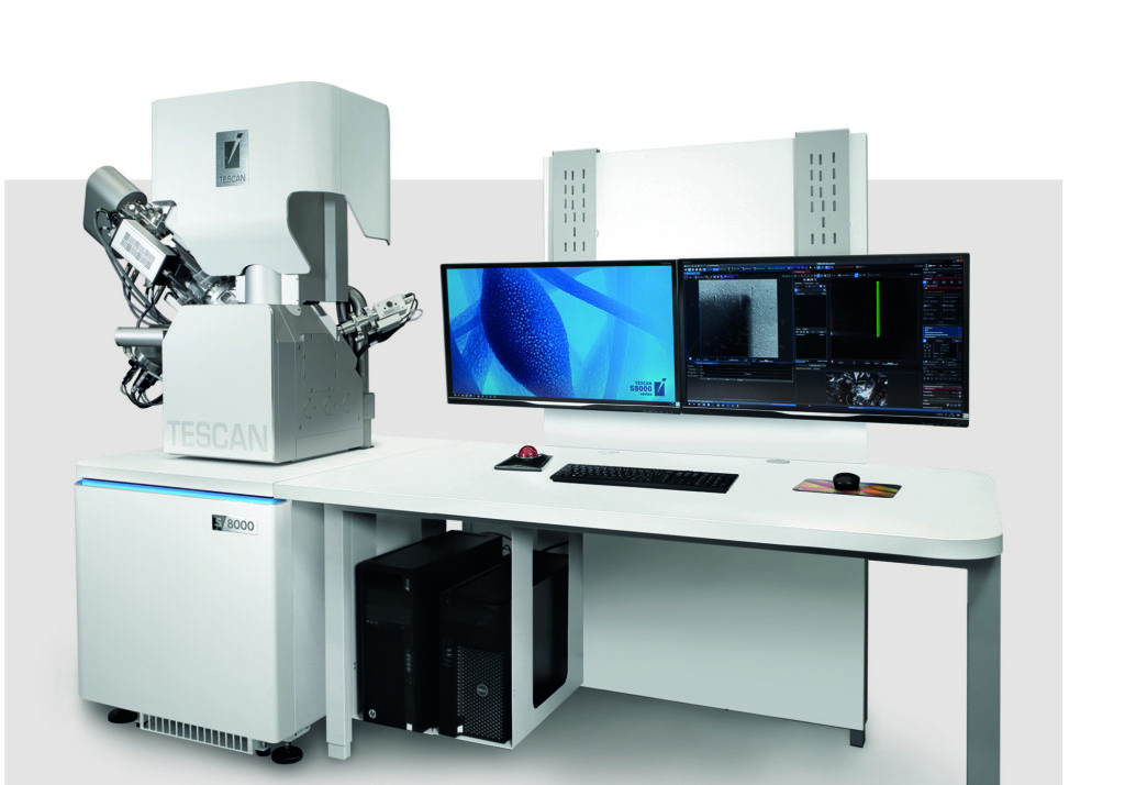 The highly versatile TESCAN S8000X Xe plasma FIB-SEM.