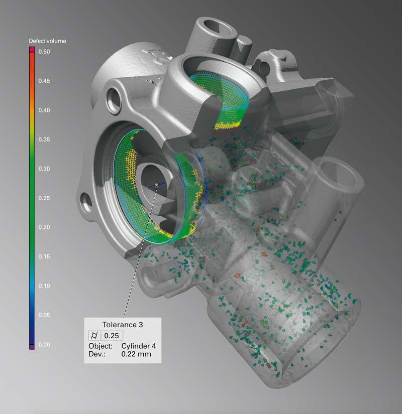 Computed Tomography image of an aluminium casting