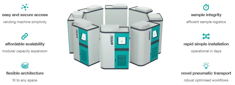Key features of the arktic XC sample management solution for biobanking