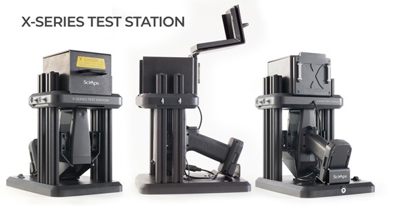 SciAps test stand for X-550 and X-505 handheld XRF