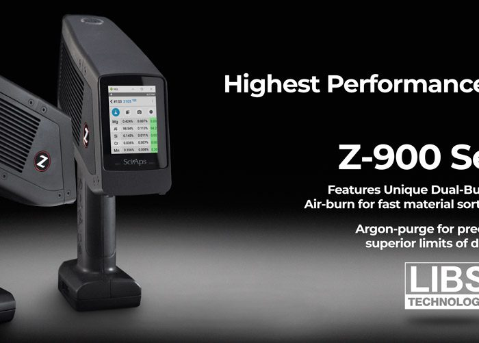 "SciAps Launches Z-900 Series LIBS with ""Dual-Burn"" Technology"
