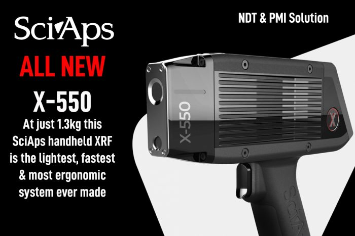SciAps X-550 handheld XRF