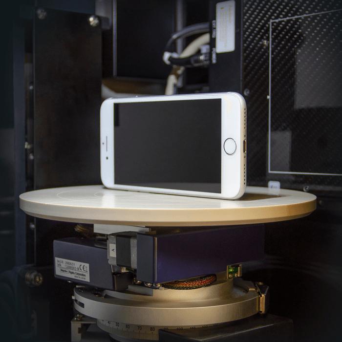 Rigaku HX130 non-destructively imaging electronic devices smart phone